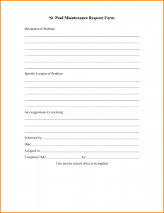 maintenance work order template maintenance request form