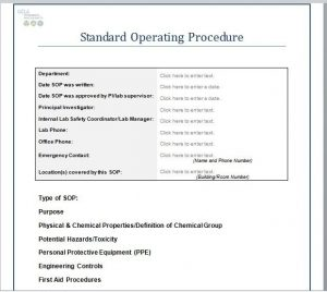 marketing letter sample best standard operating procedure sop templates within standard operating procedures template
