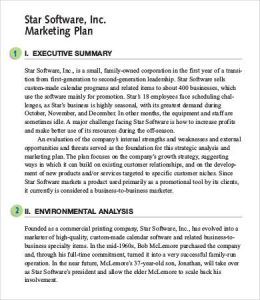 marketing plan executive summary marketing plan executive summary sample