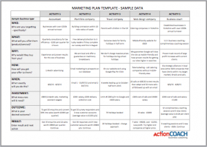 marketing plan template free free marketing plan template in excel