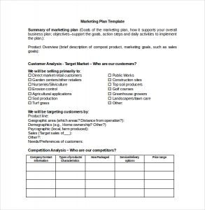 marketing plan template free marketing plan template for microsoft word download