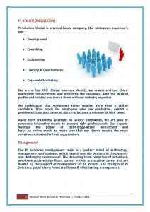 marketing plan template word global staffing rpo business proposal