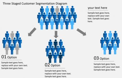 marketing plans templates free customer segmentation slide