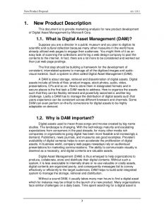 marketing proposal example new product proposal on digital asset management for microsoft