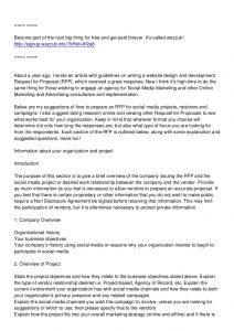marketing proposal example tips for writing social media marketing rfp