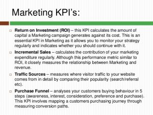 marketing strategy example key performance indicators you should know