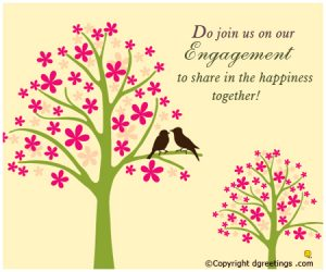 marriage ceremony words engagement invitation