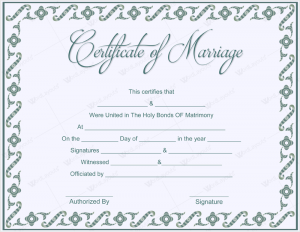 marriage certificate sample certificate of marriage sample