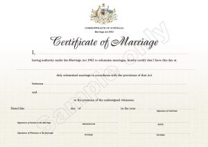 marriage certificate sample sample marriage certificate