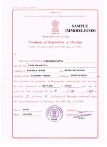 marriage certificate sample sample marriage registration certificate india