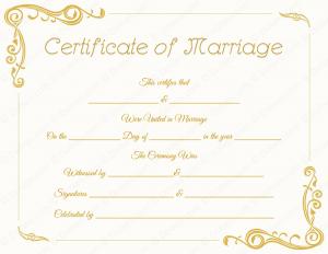 marriage certificate template blank standard marriage certificate template