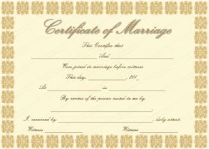 marriage certificate template elegant marriage certificate template golden edition