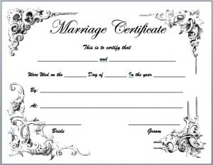 marriage certificate template marriage certificate template