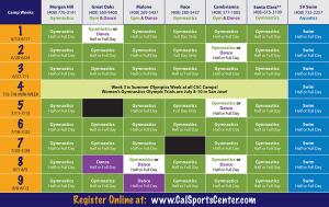 master schedule template camps master schedule