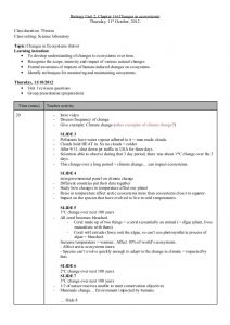 math lesson plan template biology lesson plan changes in ecosystems
