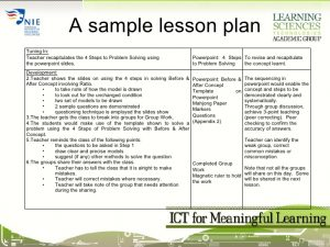 math lesson plan template session ict for meaningful learning lesson planning