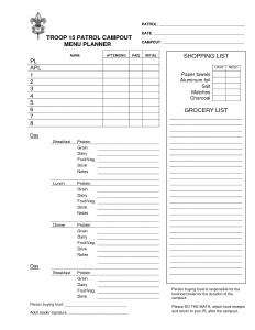 meal plan template pdf boy scout menu planning worksheet