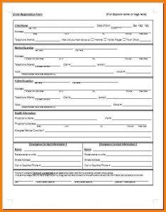 meal plan template word registration form template word sample registration form template