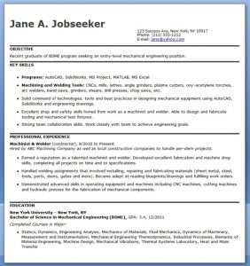 mechanical engineering resume mechanical engineering resume template entry level