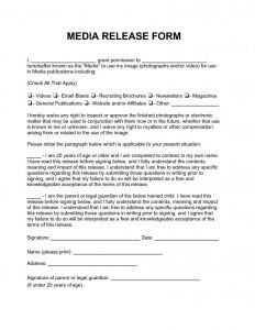 media release form media release form x
