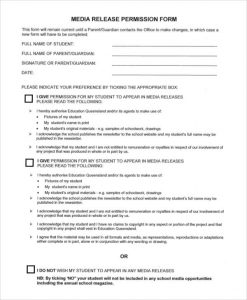 media release form media release permission form