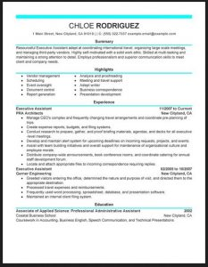 medical administrative assistant resume executive assistant secretary resume