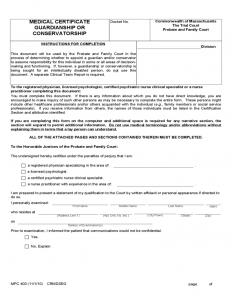 medical certificate forms medical certificate guardianship or conservatorship form l