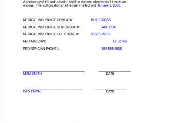 medical consent form for grandparents medical release form for grandparents