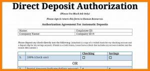 medical cv template generic direct deposit form