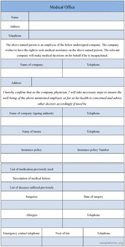 medical form templates