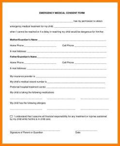 medical release form for grandparents medical release form for grandparents free