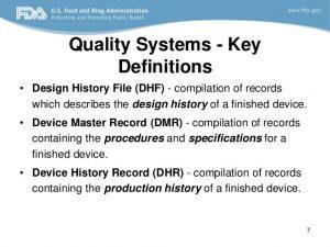 medical report example design control fda requirements