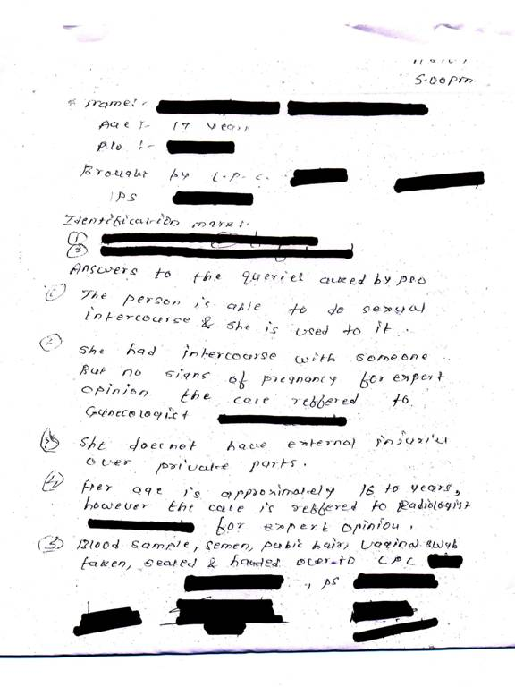 medical report example