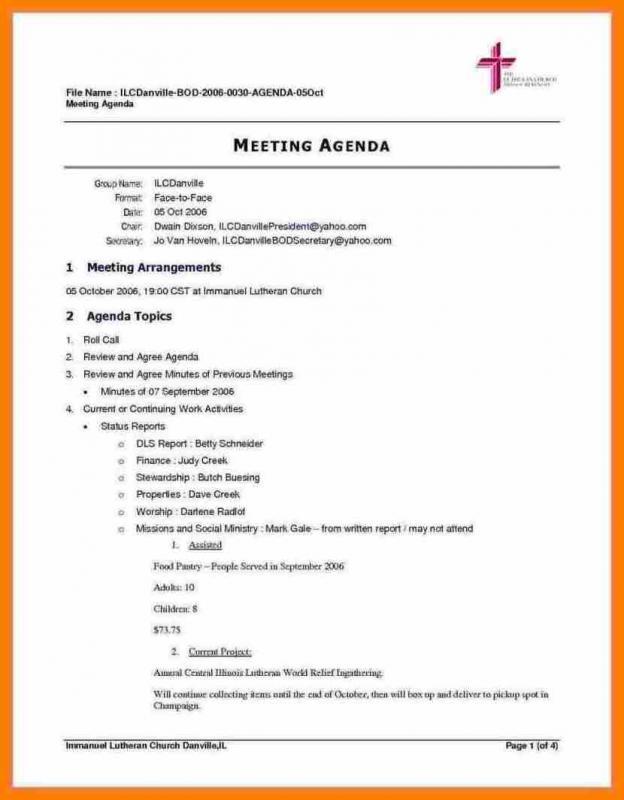 meeting agenda template doc