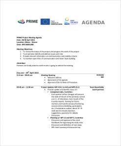 meeting agenda template doc example project status meeting agenda