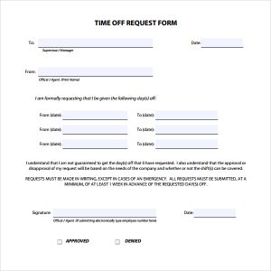 meeting agenda template doc printable doc free download time off request form