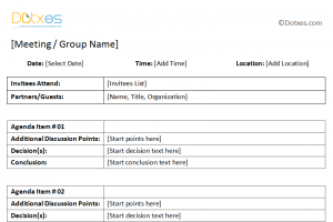 meeting minute template word general meeting minutes template with table format featured image