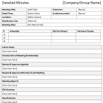 meeting notes template meeting minutes template in a descriptive format