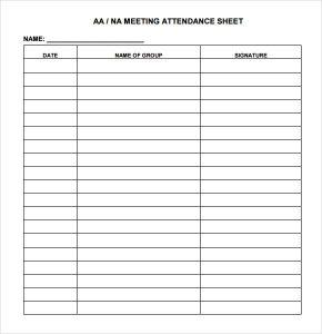 meeting sign in sheet attendance sheet image
