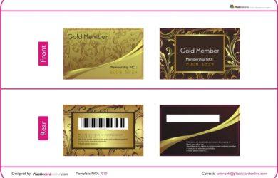 membership card template plastic card template
