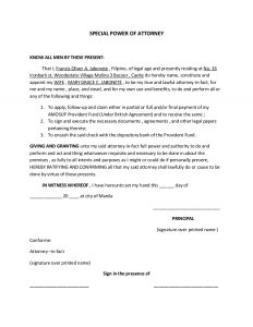 membership form template power of attorney template