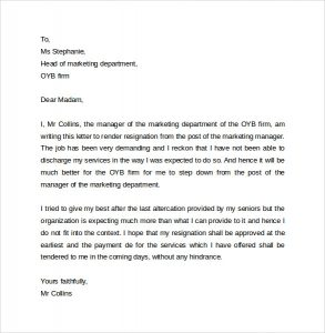 memo format template business resignation letter