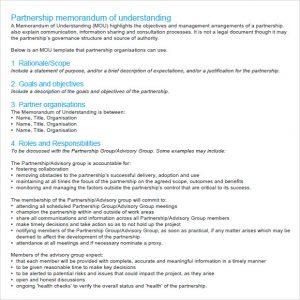 memorandum of understanding sample memorandum of understanding sample