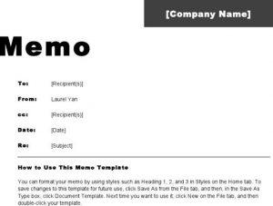 memorandum of understanding template word free memo template e