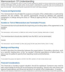 memorandum of understanding template word memorandum of understanding template