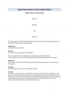 memorandum of understanding template word standard memorandum of understanding format d
