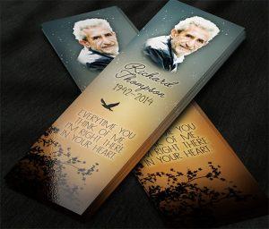 memorial cards for funeral template free memorial service bookmark card