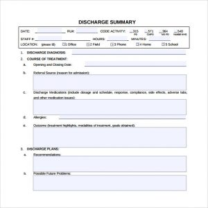 mental health treatment plan downloadable discharge summary template