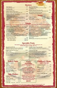 menu design templates diner menu template page