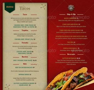menu design templates food menu templates